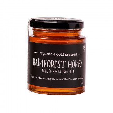 Organic rainforest honey...