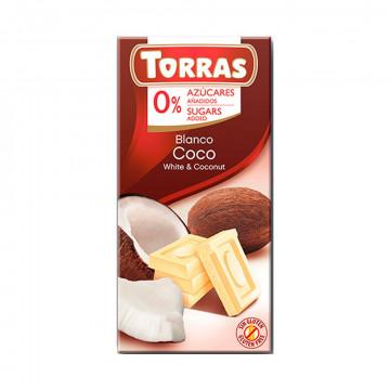Chocolate Blanco con Coco...